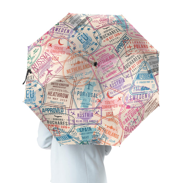 Passport Stamps Designed Umbrella
