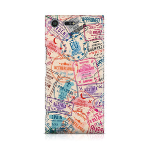 Passport Stamps Designed Sony Cases