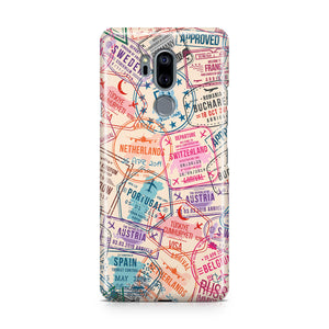 Passport Stamps Designed LG Cases
