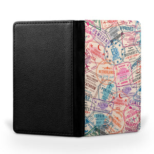Passport Stamps Designed Passport & Travel Cases