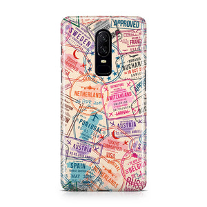 Passport Stamps Designed OnePlus Cases
