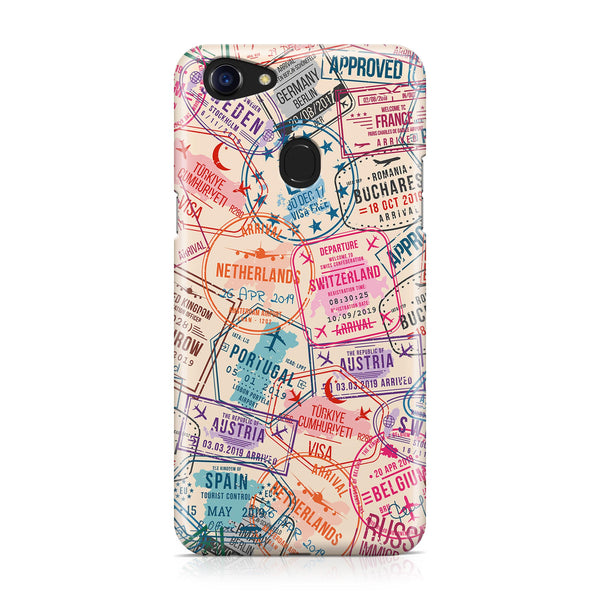Passport Stamps Designed Oppo Phone Cases