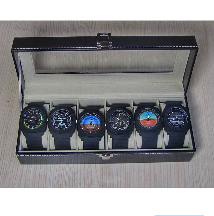 LIMITED Edition - Airplane Instruments Pilot Watch Collection (6 Watches)