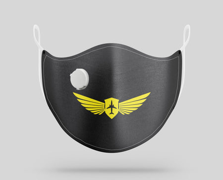 Pilot Badge (2) Designed Face Masks