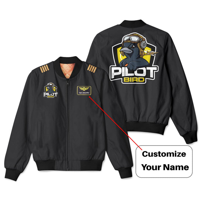Pilot Bird Patch & Customizable Badge Designed 3D Bomber Jackets