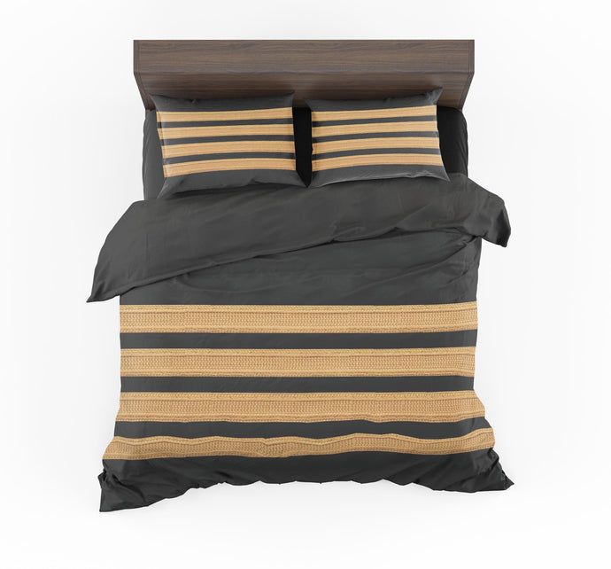 Pilot Epaulette 4 Lines Designed Bedding Sets