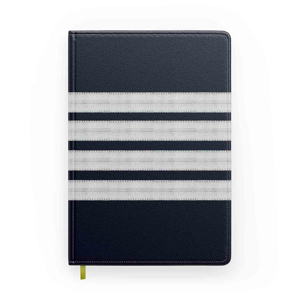"Customizable Name & ""SILVER"" Pilot Epaulette (4,3,2 Lines) Designed Notebooks"