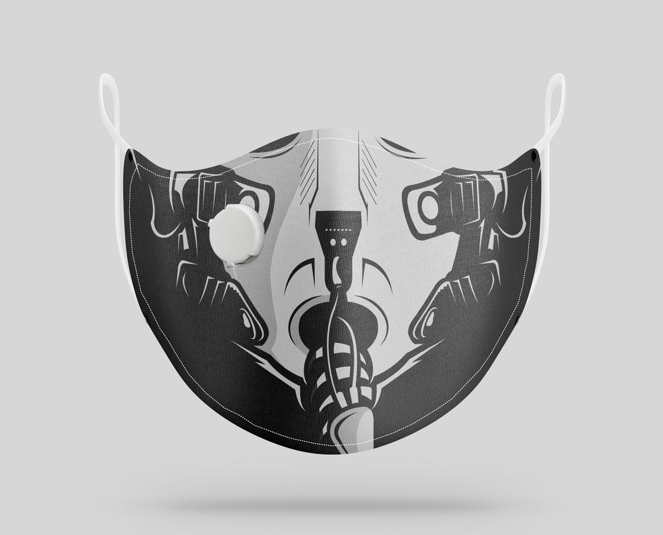 Pilot Helmet Designed Face Masks