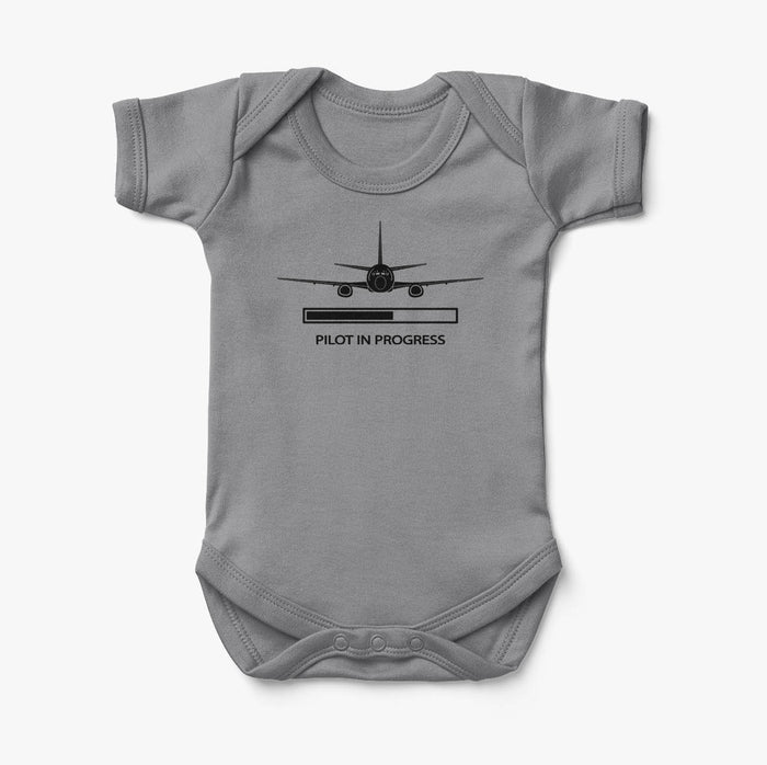Pilot In Progress Designed Baby Bodysuits
