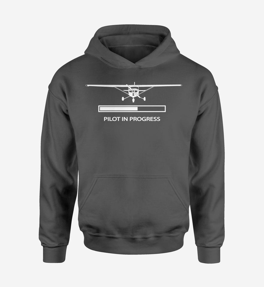 Pilot In Progress (Cessna) Designed Hoodies