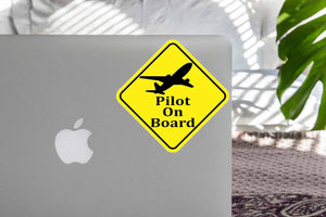 Pilot On Board Designed Super Cool Stickers
