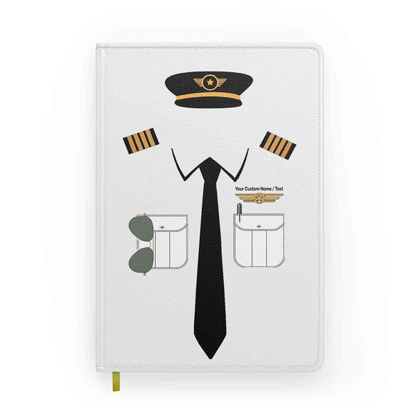 Customizable Name & Pilot Uniform Designed Notebooks