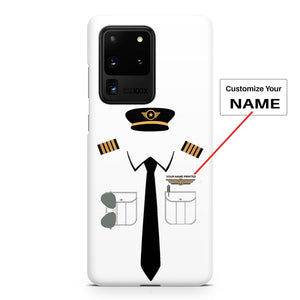 Pilot Uniform Designed (2,3,4 Lines - Customizable Name) Samsung S & Note Cases