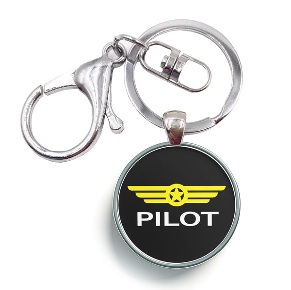 Pilot & Badge Designed Circle Key Chains