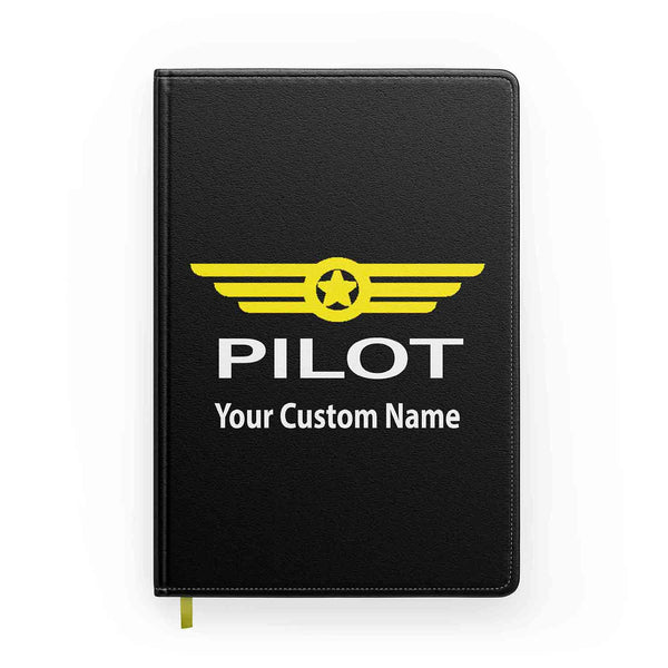 Customizable Name & PILOT BADGE Designed Notebooks