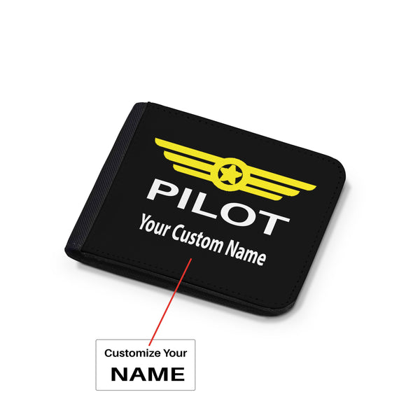 Customizable Name & Pilot Badge Designed Wallets