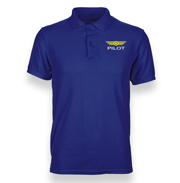 Pilot & Badge Designed Polo T-Shirts