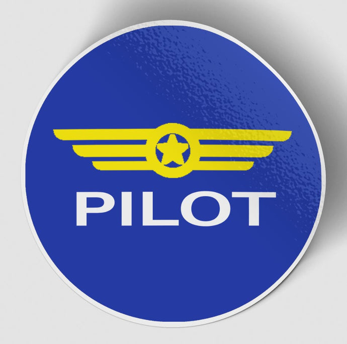 Pilot & Badge Blue Designed Stickers