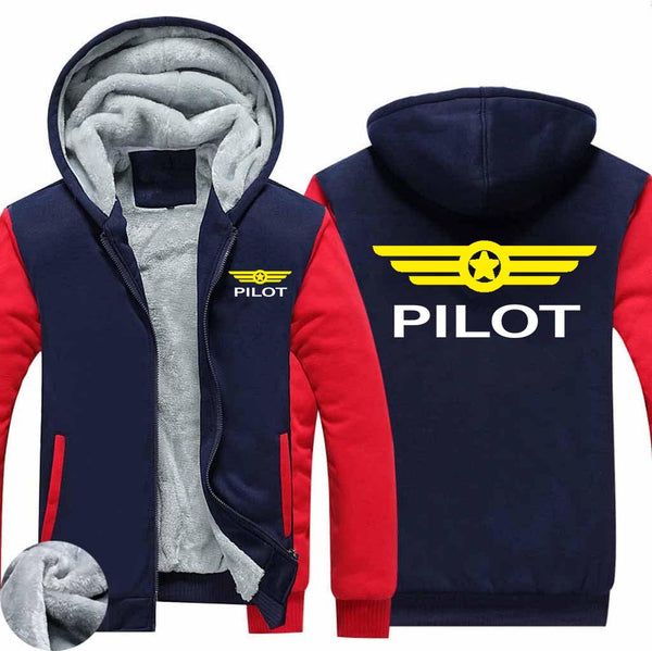 Pilot & Badge Designed Zipped Sweatshirts