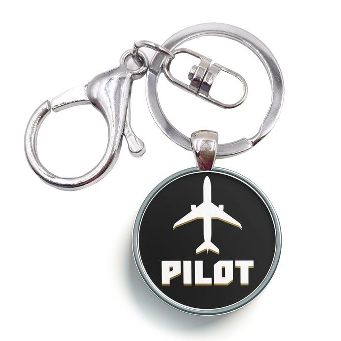 Pilot & Circle Designed Circle Key Chains