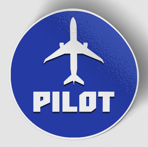 Pilot & Circle (Blue) Designed Stickers
