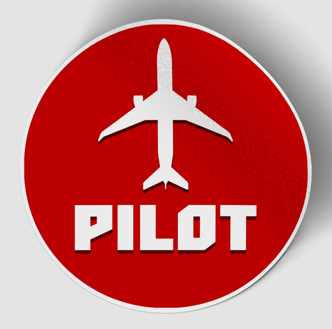Pilot & Circle (Red) Designed Stickers