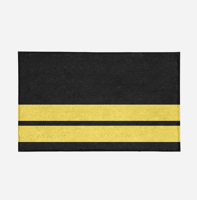 Pilot Epaulette (2 Lines) Designed Door Mats Aviation Shop