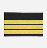 Pilot Epaulette (3 Lines) Designed Door Mats Aviation Shop