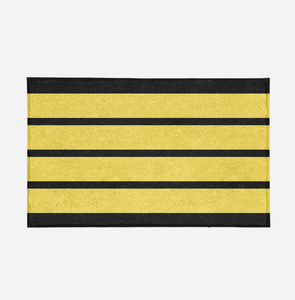Pilot Epaulette (4 Lines) Designed Door Mats Aviation Shop