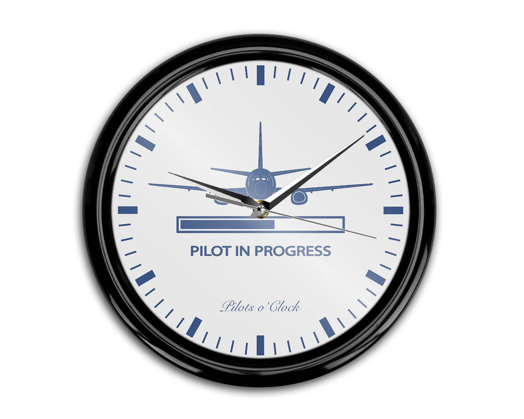 Pilot In Progress Printed Wall Clocks Aviation Shop