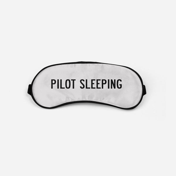 Pilot Sleeping Sleep Masks Aviation Shop Light Gray Sleep Mask
