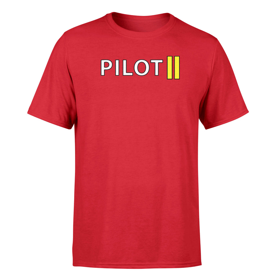 Pilot & Stripes (2 Lines) Designed T-Shirts