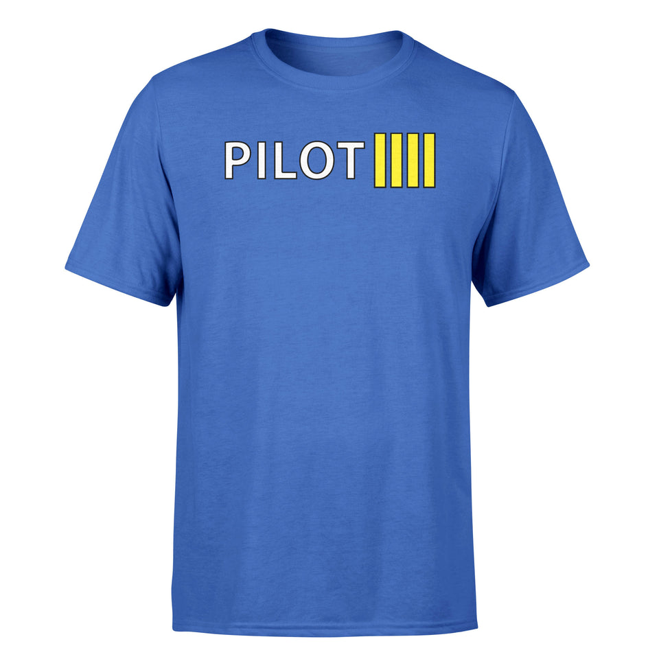 Pilot & Stripes (4 Lines) Designed T-Shirts