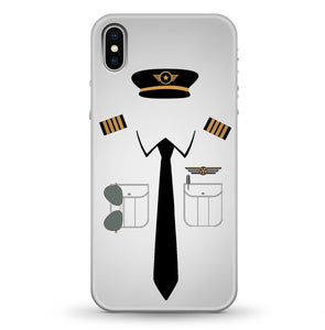 Pilot Uniform Designed (2,3,4 Lines - Customizable Name) iPhone Cases