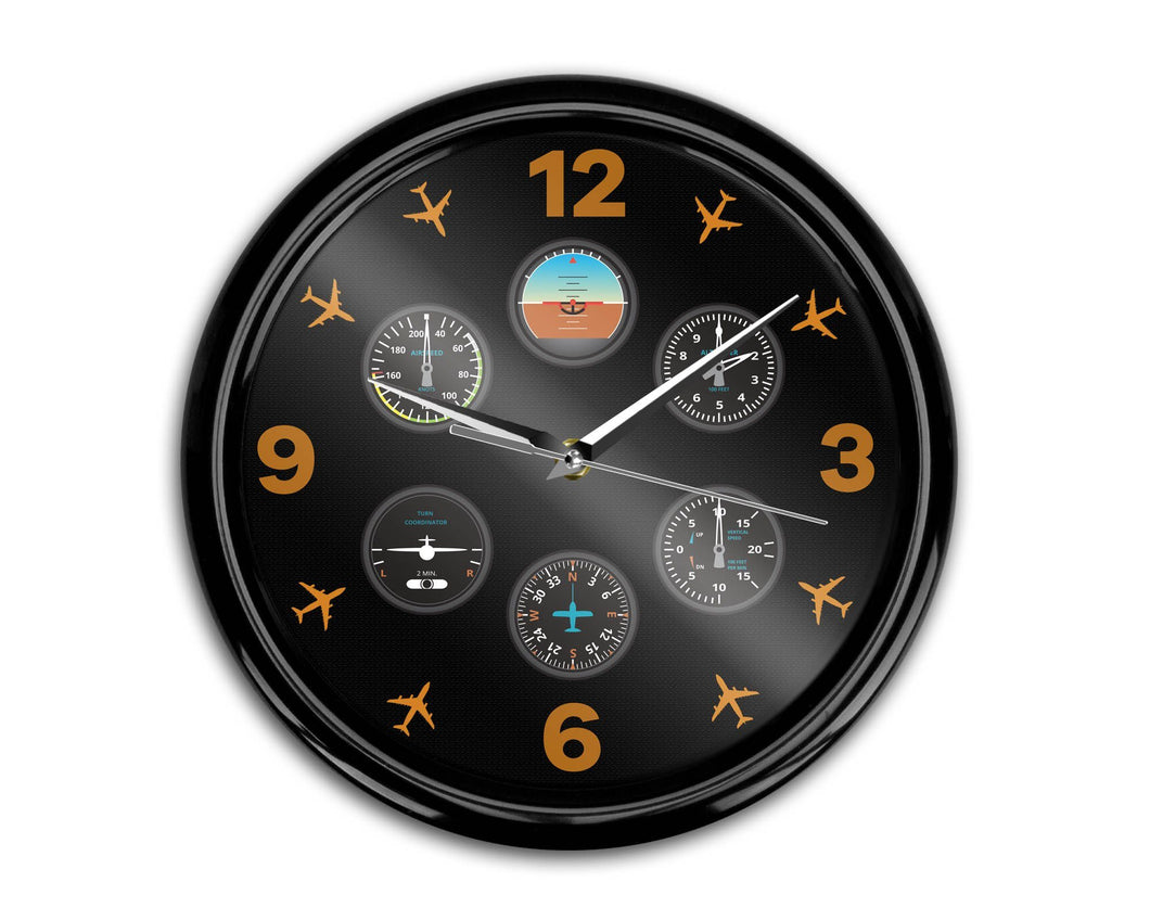 Pilot's Six Pack Designed Wall Clocks Aviation Shop