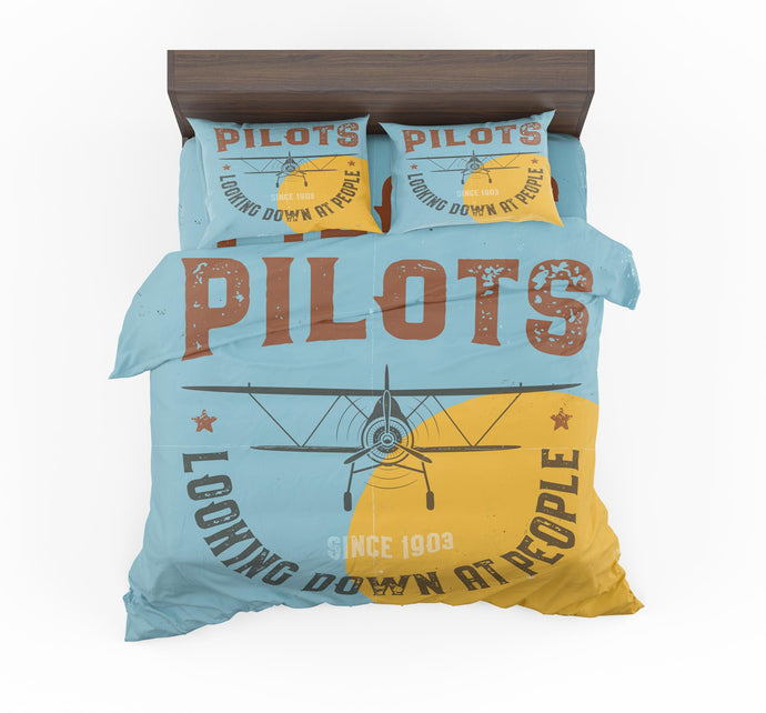 Pilots Looking Down at People Since 1903 Designed Bedding Sets