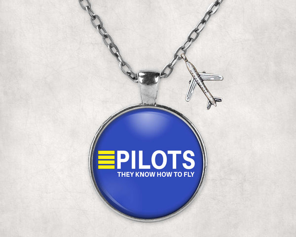 Pilots They Know How To Fly Designed Necklaces