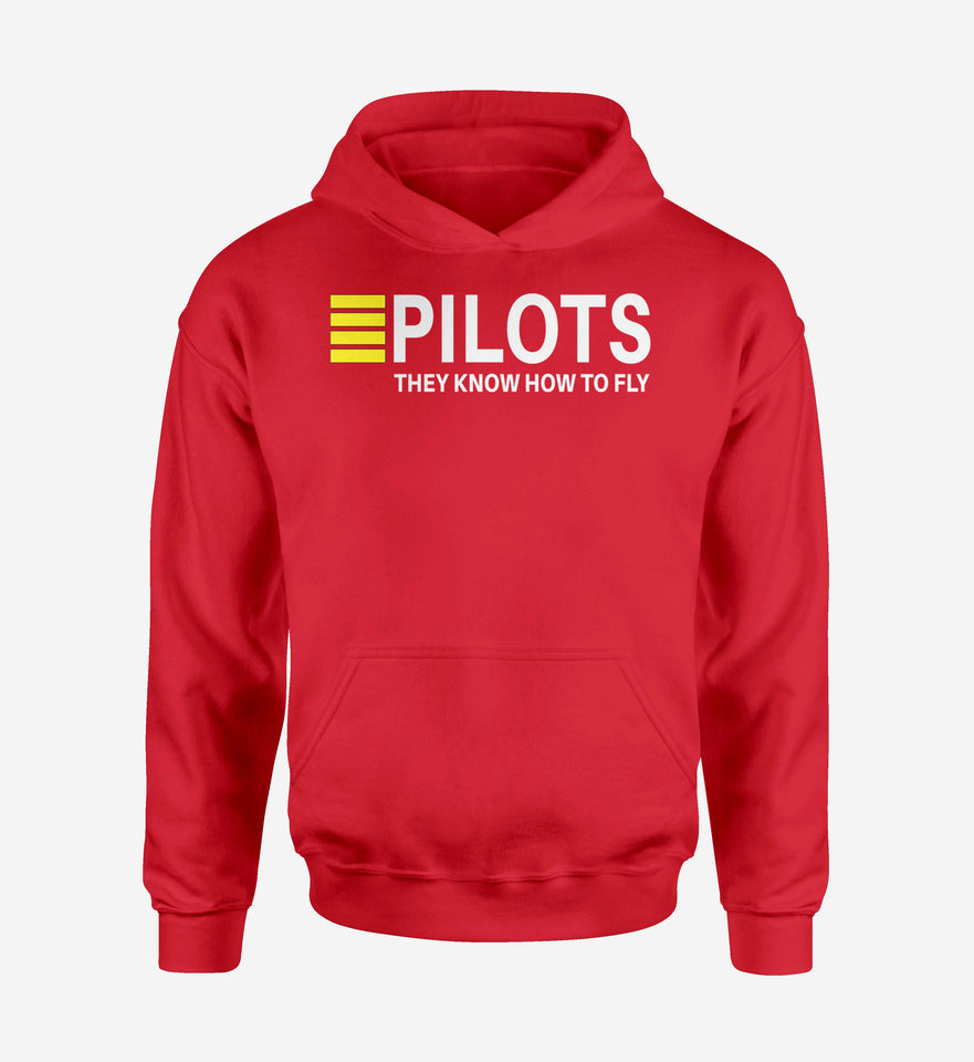 Pilots They Know How To Fly Designed Hoodies
