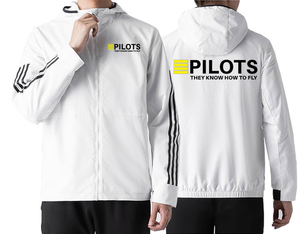 Pilots They Know How To Fly Designed Windbreaker Jackets