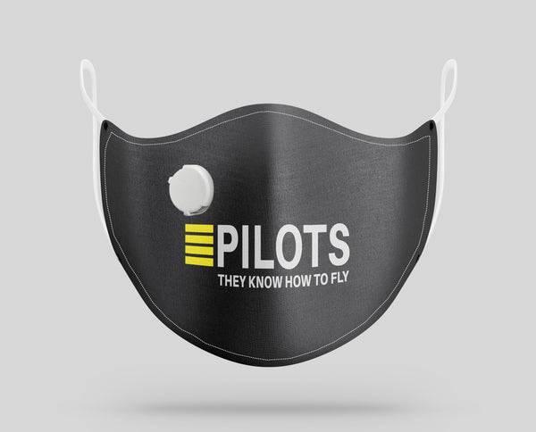 PILOTS They Know How To Fly Designed Face Masks