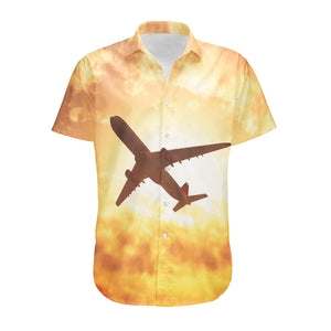 Plane Passing By Designed 3D Shirts