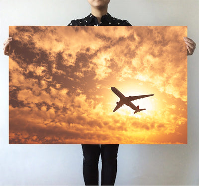 Plane Passing By Printed Posters
