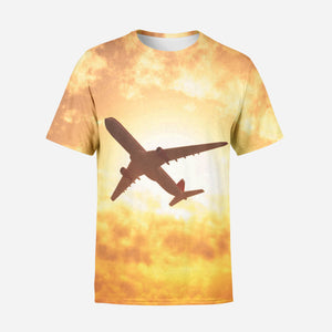 Plane Passing By Printed T-Shirts
