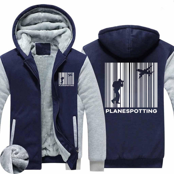 Planespotting Designed Zipped Sweatshirts