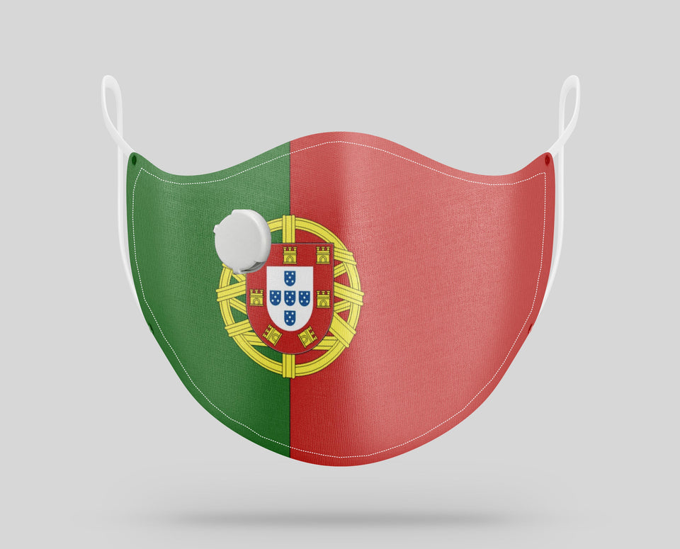 Portugal Flag Designed Face Masks