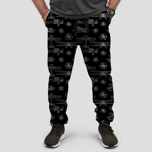 Propeller Lovers Designed Sweat Pants & Trousers