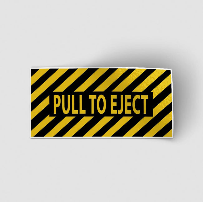 Pull to Eject Designed Stickers