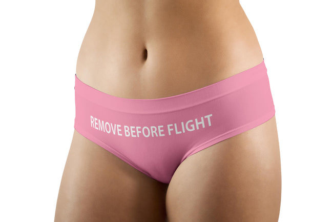 REMOVE BEFORE FLIGHT (Pink) Designed Women Panties & Shorts