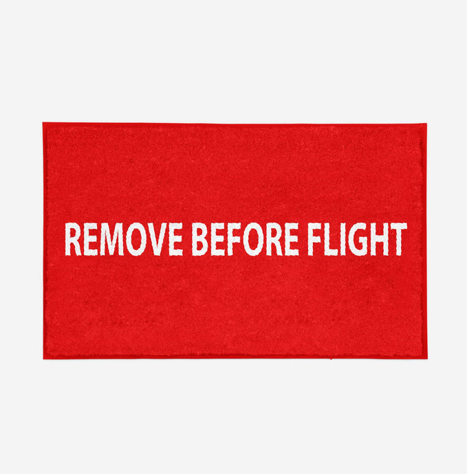 Remove Before Flight 2 Designed Door Mats