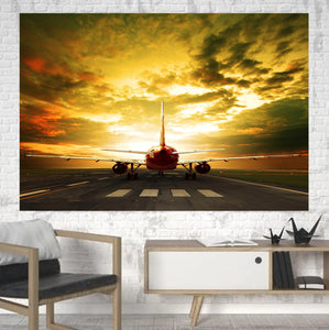Ready for Departure Passanger Jet Printed Canvas Posters (1 Piece)